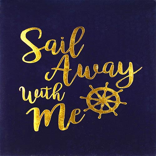 Sail Away With Me Boxed Flocked Plaque