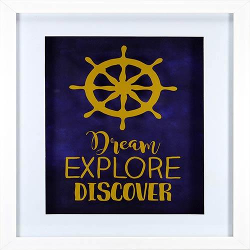 Dream Explore Discover Shadowbox