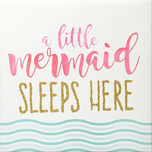 A Little Mermaid Sleeps Here Wrapped Canvas