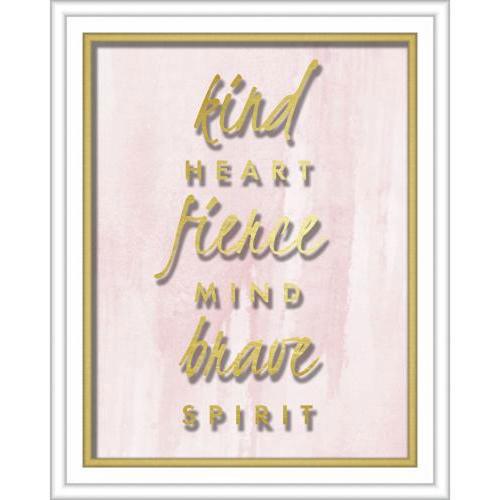 Linden Ave Kind Heart Fierce Mind Brave Spirit 16 x 20 In. Shadowbox Wall Art