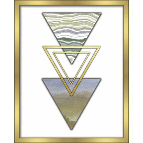 Linden Ave 3 Triangles Blue 16 x 20 In. Shadowbox Wall Art