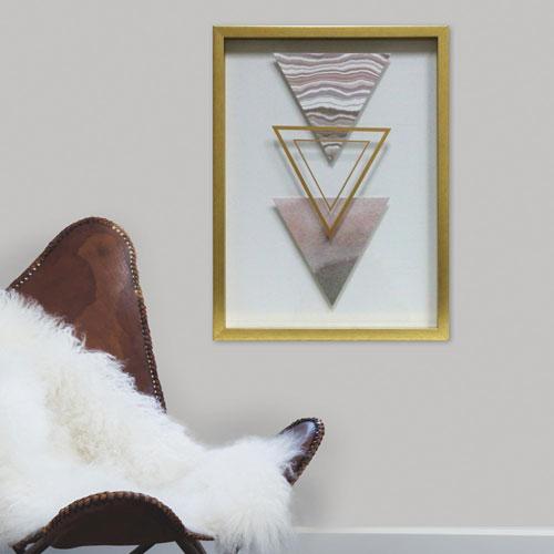 3 Triangles Blush 16 x 20 In. Shadowbox Wall Art