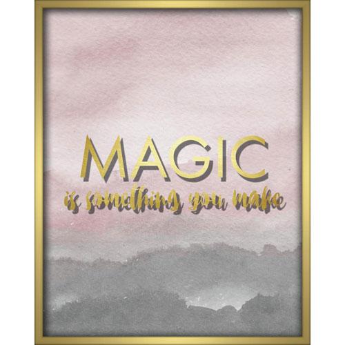 Magic Is Something You Make Blush 16 x 20 In. Shadowbox Wall Art