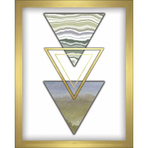 Linden Ave 3 Triangles Blue 8 x 10 In. Shadowbox Wall Art