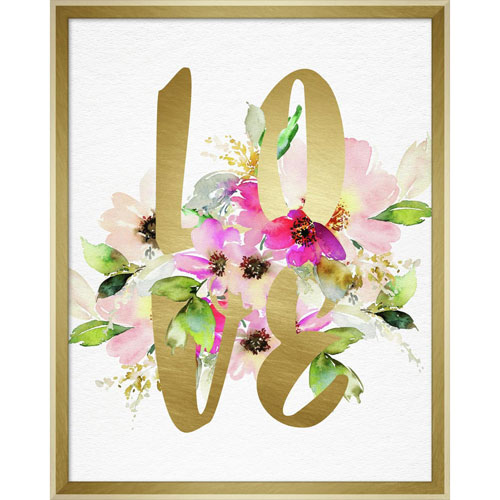 Linden Ave Love Layered Floral 16 x 20 In. Framed Wall Art