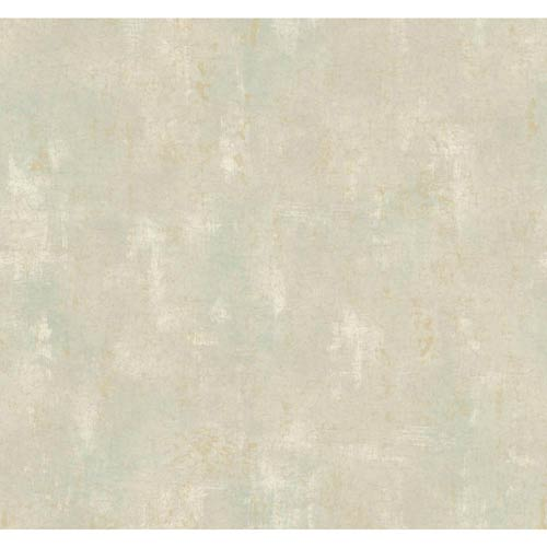 York Wallcoverings Windermere White, Pewter and Sand Cora Wallpaper: Sample Swatch Only