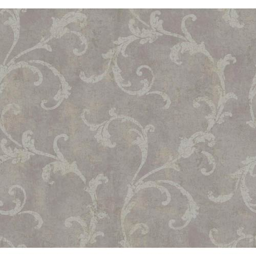 York Wallcoverings Windermere Lilac Shadow, Silver and Dark Gray Penelope Wallpaper: Sample Swatch Only