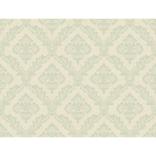York Wallcoverings Windermere Pearlescent Beige, Aquamarine and Taupe Lawrence Wallpaper: Sample Swatch Only