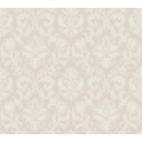 York Wallcoverings Windermere Misty Wisteria and Fog Gray Amelia Wallpaper: Sample Swatch Only