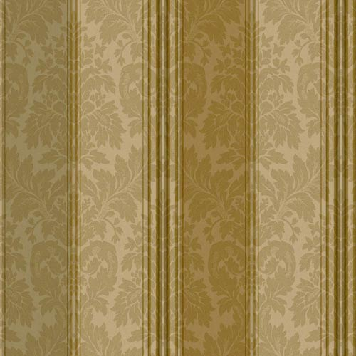 York Wallcoverings Windermere Golden Wheat, Caramel, Olive and Brown Clarence Stripe Wallpaper: Sample Swatch Only