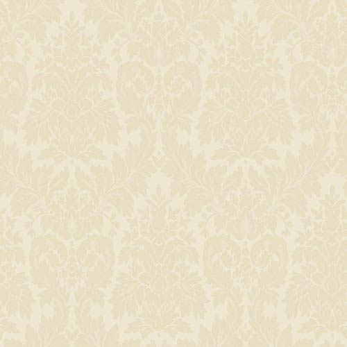 York Wallcoverings Windermere Cream and Ecru Clarence Wallpaper: Sample Swatch Only