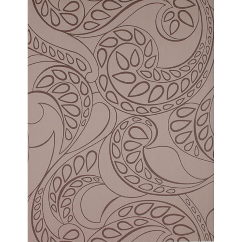 Barbara Becker Raised Surface Tear Drop Paisley Wallpaper : Sample Swatch Only