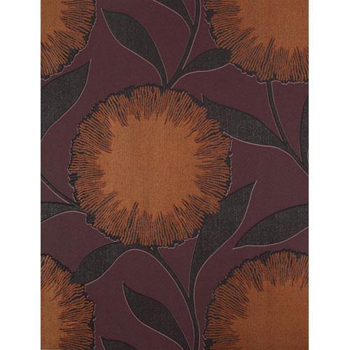 Barbara Becker Raised Surface Dandelion Powder Puff Floral Wallpaper: Sample Swatch Only
