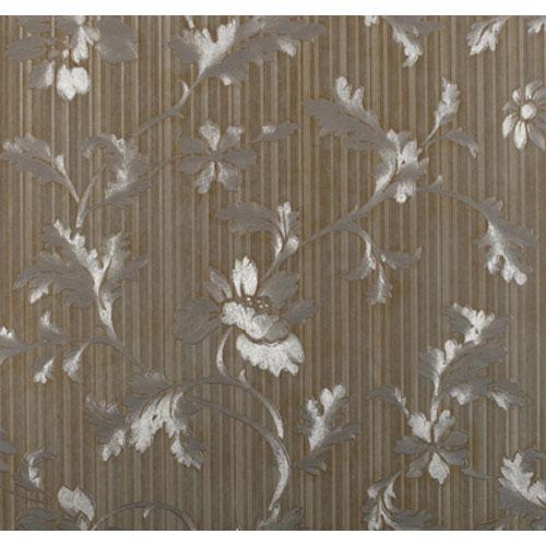 Opulence Leaf Stripe Wallpaper: Sample Swatch Only