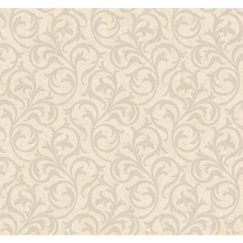 York Wallcoverings Inspired by Color Beige and Silver Wallpaper: Sample Swatch Only