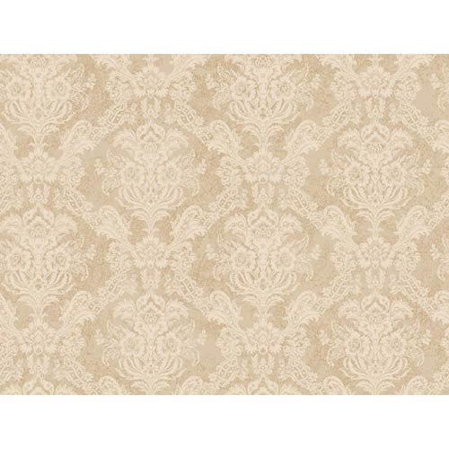 York Wallcoverings Inspired by Color Cream and Off White Wallpaper: Sample Swatch Only