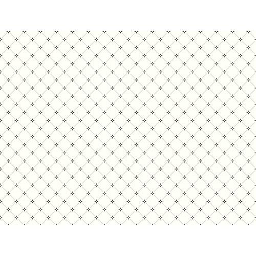 York Wallcoverings Ashford White and Black Wallpaper