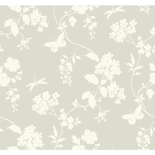 York Wallcoverings Ashford Black, Soft Gray and White Wallpaper