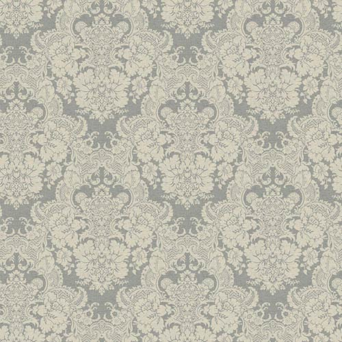 York Wallcoverings Ashford Black, White Pale Gray and Cream Wallpaper