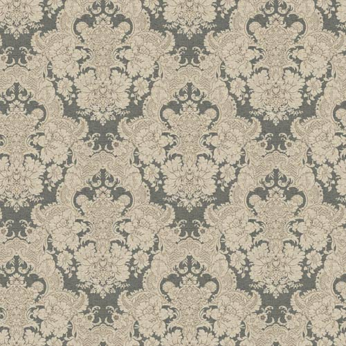 York Wallcoverings Ashford Black, White Charcoal and Light Brown Wallpaper: Sample Swatch Only
