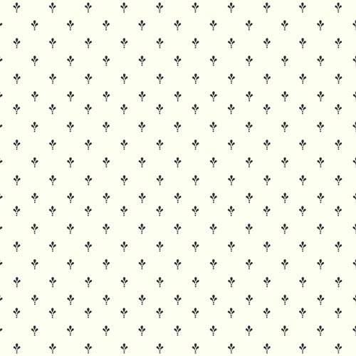 York Wallcoverings Ashford White and Black Ditsy Wallpaper