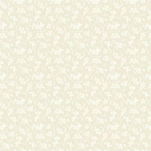York Wallcoverings Ashford Black, White Tan and Cream Wallpaper: Sample Swatch Only