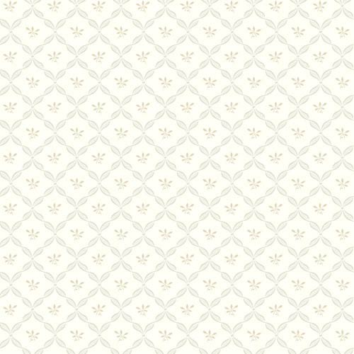 York Wallcoverings Ashford Black, White, Pale Gray and Tan Wallpaper: Sample Swatch Only