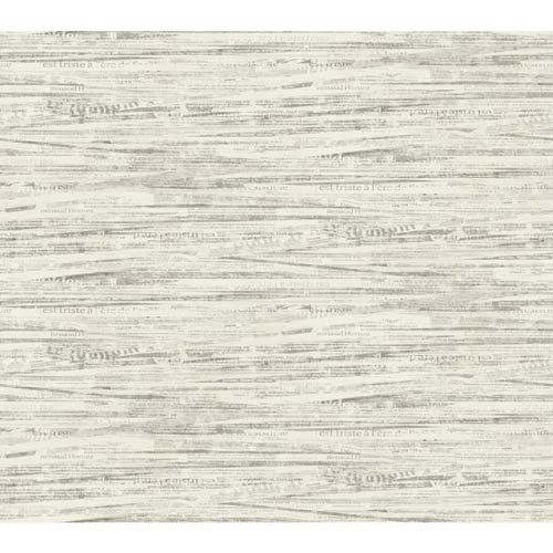 York Wallcoverings Ashford Black, White Warm Cream and Sepia Wallpaper: Sample Swatch Only
