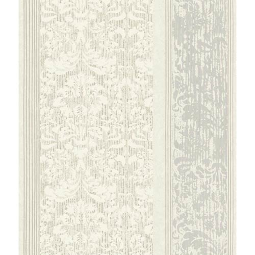 York Wallcoverings Ashford Black, White Cream, Gray, Taupe and Light Brown Wallpaper: Sample Swatch Only