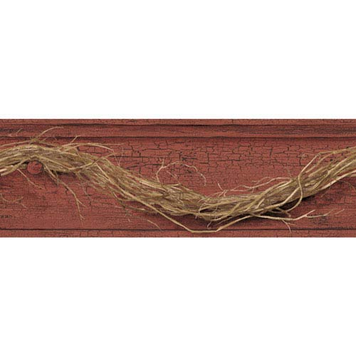 Country Keepsakes Dark Red and Brown Grapevine Twig Border