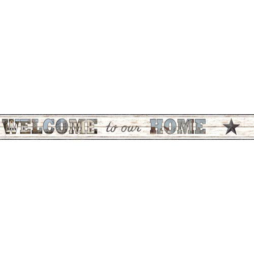 Country Keepsakes White and Brown Welcome To Our Home Border