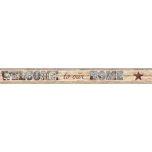 Country Keepsakes Tan and Brown Welcome To Our Home Border