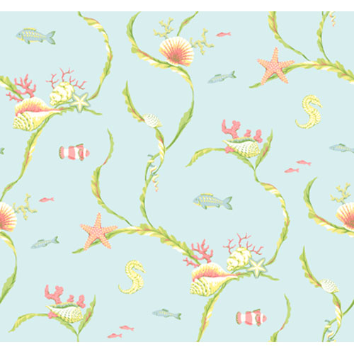 By The Sea Sea Life Trail Wallpaper: Sample Swatch Only