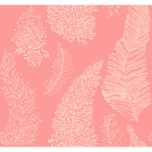 By The Sea All Over Coral Spot Wallpaper: Sample Swatch Only