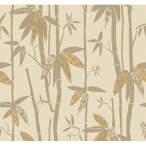 York Wallcoverings By The Sea Bamboo Shoot Wallpaper: Sample Swatch Only