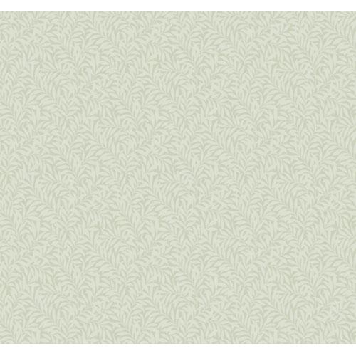 Veranda Pale Seafoam Green and Medium Seafoam Green Packed Leaf Wallpaper: Sample Swatch Only