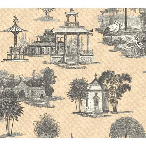 Ashford Toiles Mandarin Removable Wallpaper