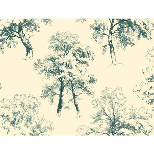 Ashford Toiles Deciduous Removable Wallpaper- Sample Swatch Only