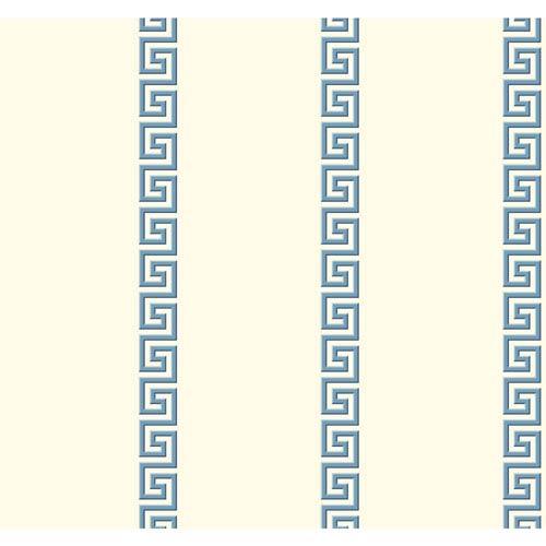 York Wallcoverings Ashford Toiles Acropolis Stripe Removable Wallpaper