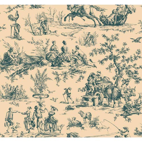 York Wallcoverings Ashford Toiles Seasons Toile Removable Wallpaper