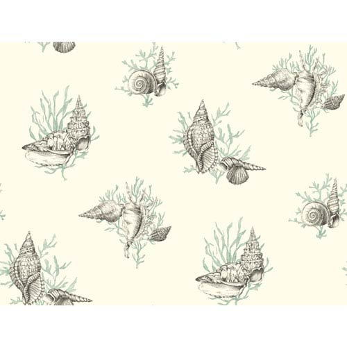 Ashford Toiles Shell Toile Removable Wallpaper- Sample Swatch Only