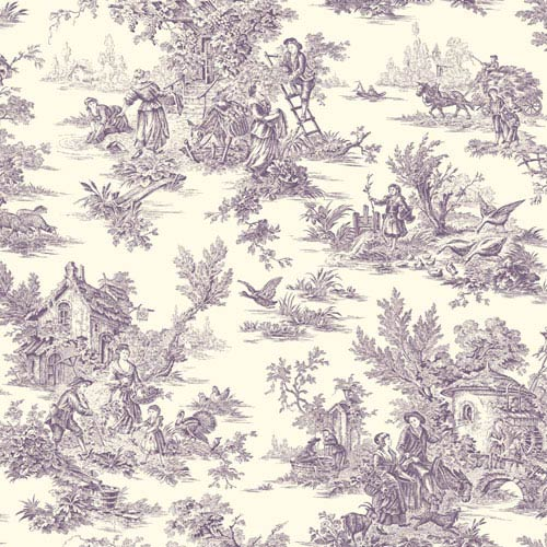 York Wallcoverings Ashford Toiles Campagne Removable Wallpaper- Sample Swatch Only