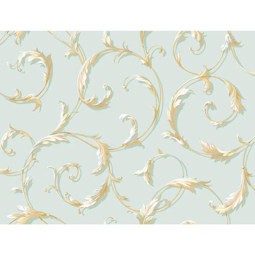 York Wallcoverings Inspired by Color Spa Wallpaper: Sample Swatch Only
