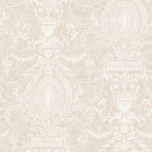 York Wallcoverings American Classics Eggshell, Beige and Pale Taupe Wallpaper: Sample Swatch Only