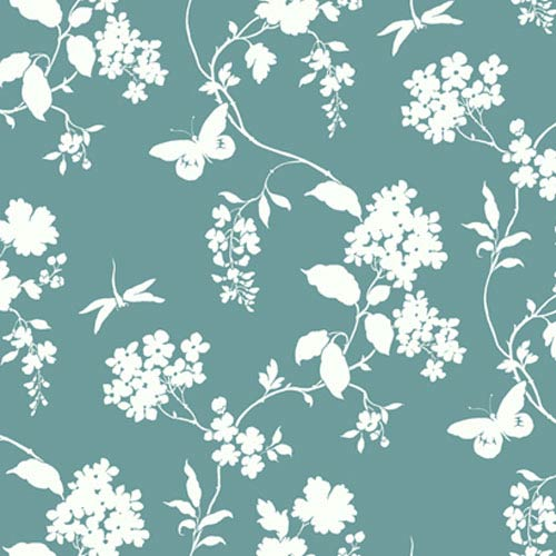 York Wallcoverings Silhouettes Trailing Floral and Vines Wallpaper: Sample Swatch Only