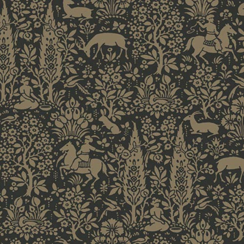 York Wallcoverings Silhouettes Woodland Tapestry Toile Wallpaper: Sample Swatch Only