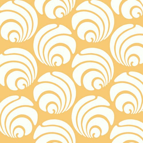 York Wallcoverings Silhouettes Large Circle Swirl Geometric Wallpaper: Sample Swatch Only
