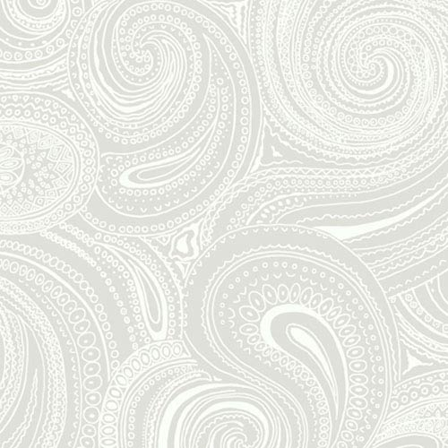York Wallcoverings Silhouettes Swirling Paisley Wallpaper