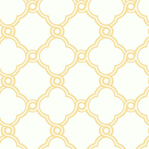 York Wallcoverings Silhouettes Fretwork Trellis Wallpaper
