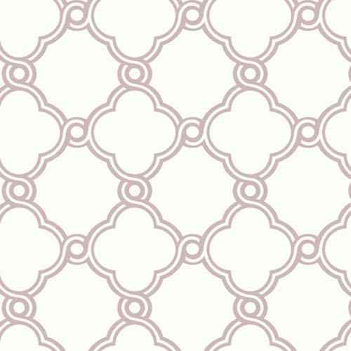 York Wallcoverings Silhouettes Fretwork Trellis Wallpaper: Sample Swatch Only